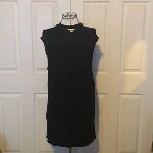 H & M BASIC Black Sleeveless High Neck Mini Dress